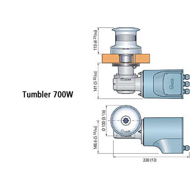 Quick Tumbler TB3 1000W 12v