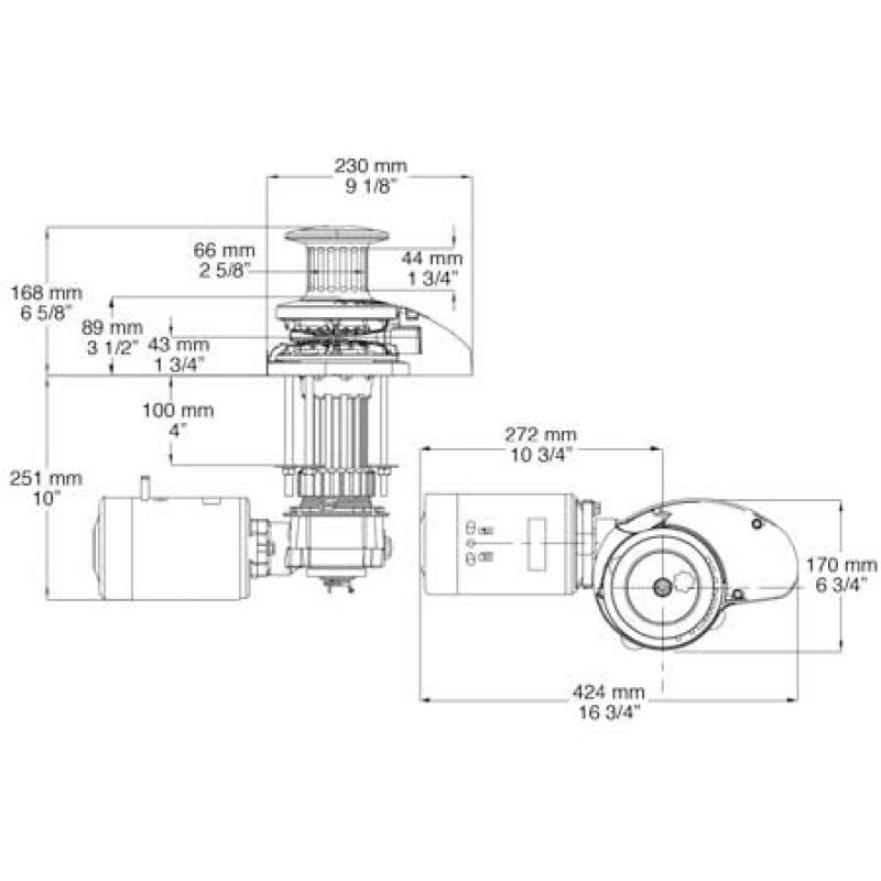 MAXWELL RC10 12V 1000W 8MM DRUM Anchor Windlass