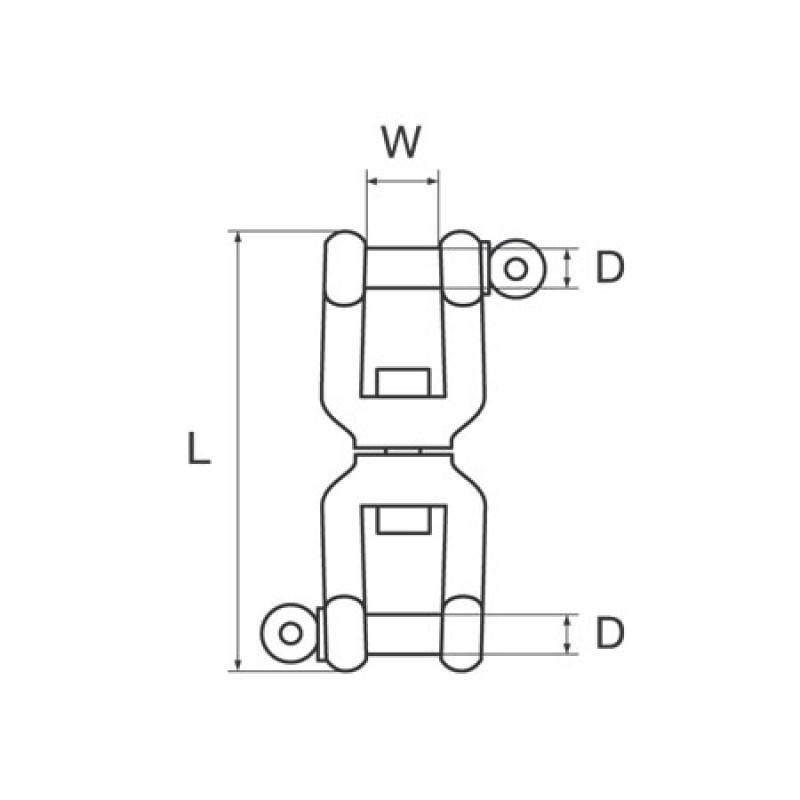 Sacavueltas Galvanizado Doble Grillete 16mm