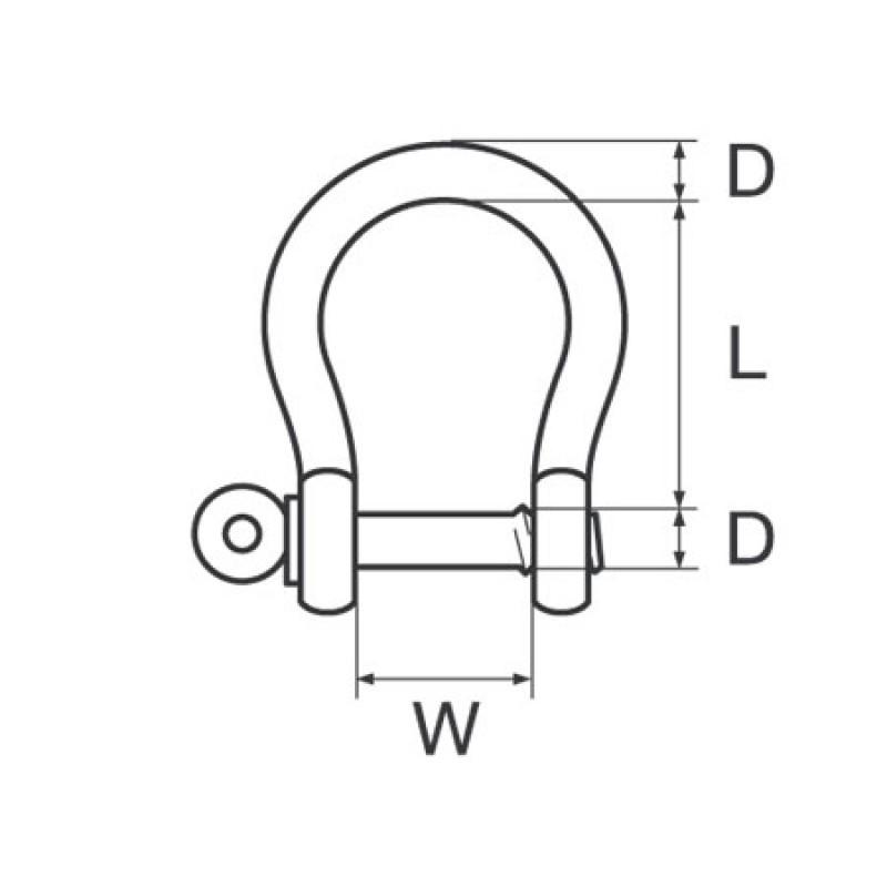 Grillete Campana galvanizado D10