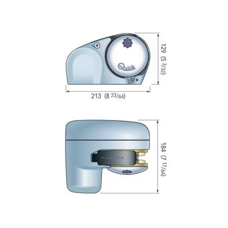Molinete de Anclas Quick Minigenius 12v 150w cadena 6mm