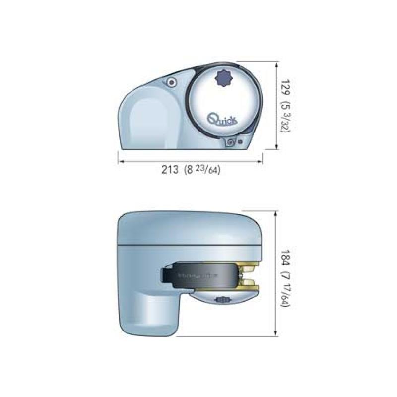 Molinete Quick Genius GP2 250W 12v - Cadena de 6mm