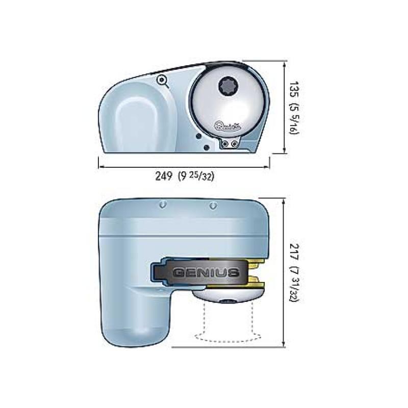 Molinete Quick Genius GP2 500W FF 12V - cadena de 6 mm