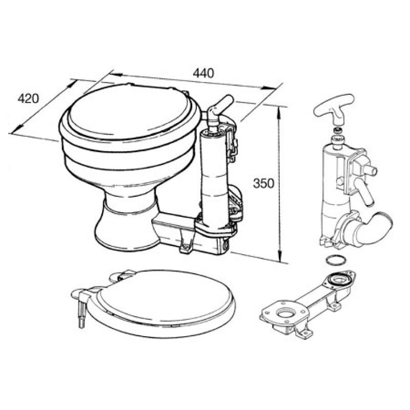 Tapa de Plastico Inodoro Manual RM