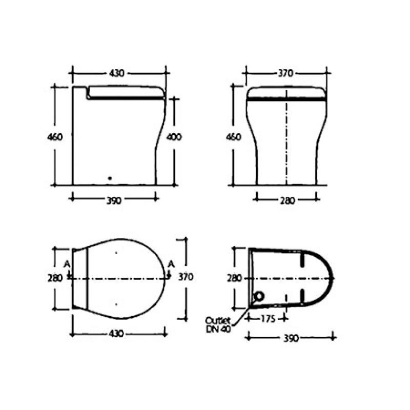 Wc Tecma Toilet Elegance 2g 12v Panel Premium