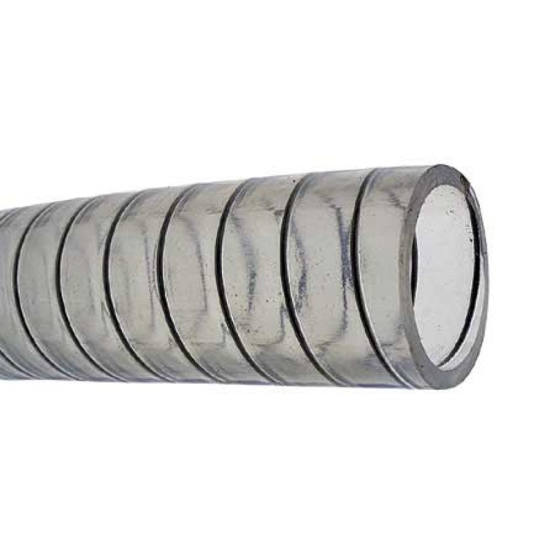 Transparent Marine Hose with steel core 28mm 30mt