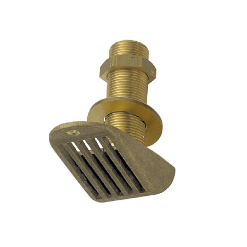 "Intake strainer thru-hull nautical brass 1"" 1/4"