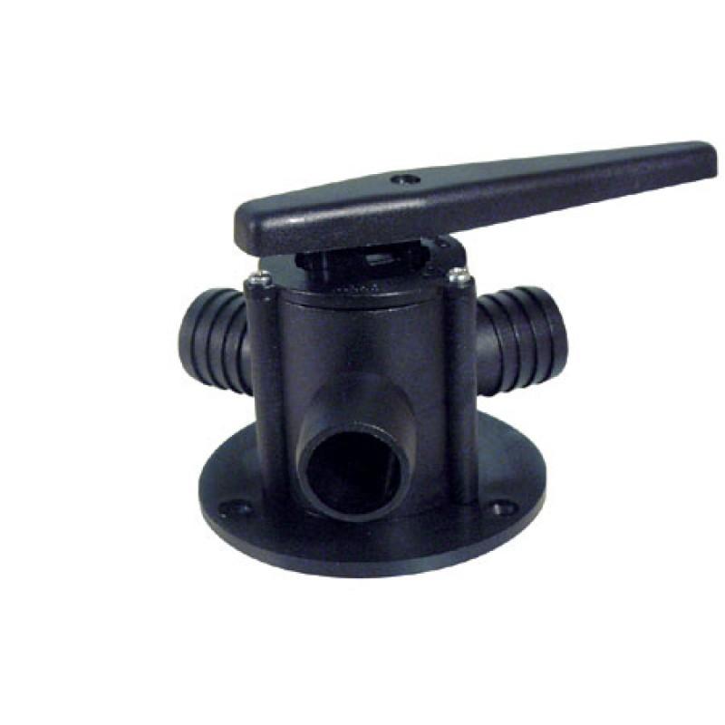 """3 Way light duty Plastic valves 38 (1""""1/2)mm"""