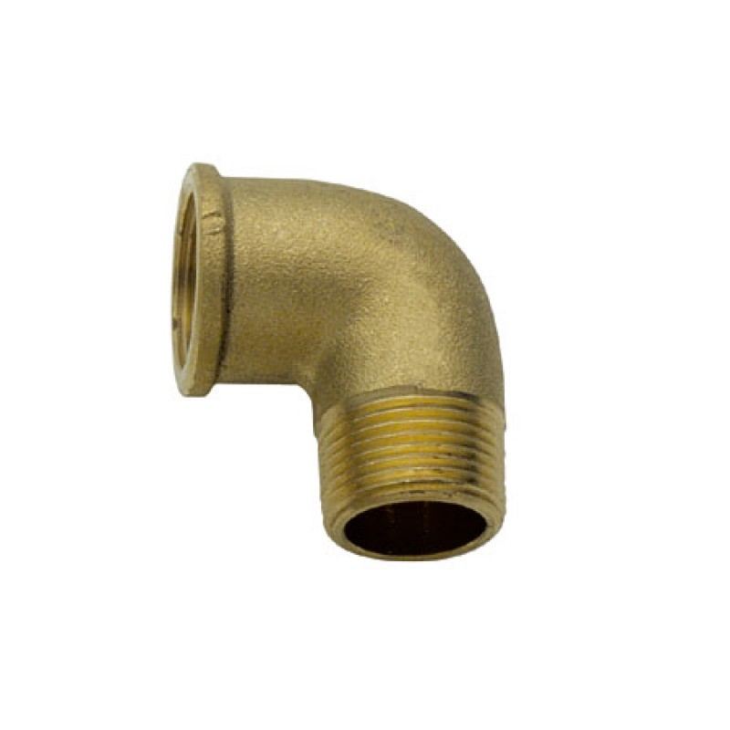 M / H brass elbow 1/4