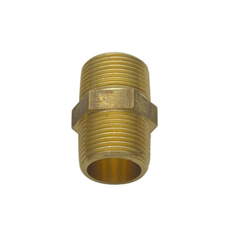 3/4 Brass double nipple