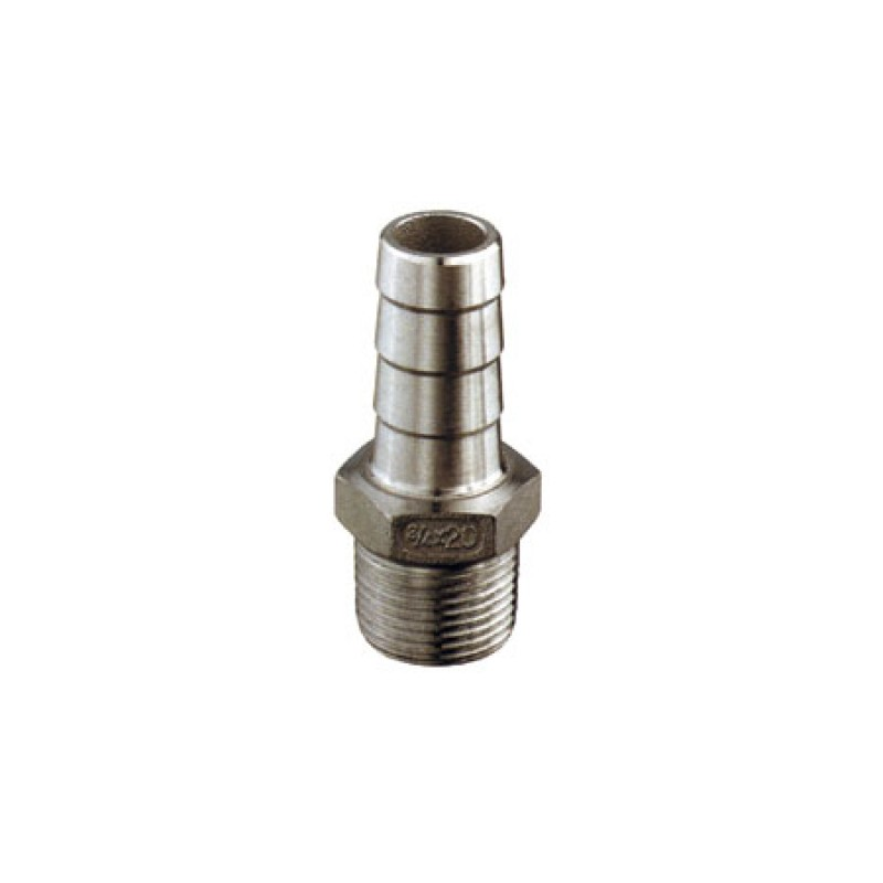 Stainless Steel male pipe to hose 3/8x11 mm