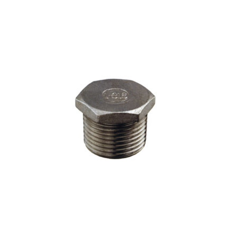 Tapon Inox cabeza Hexagonal 1 1/4""
