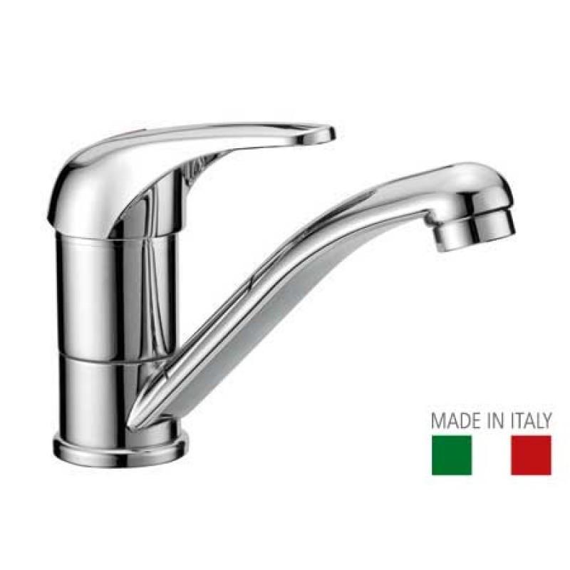 Swiveling spout sink compact mixer faucet H106mm