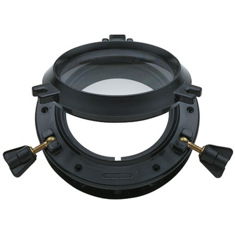 Round Portlights 270mm Black Nylon frame and Acrylic glass