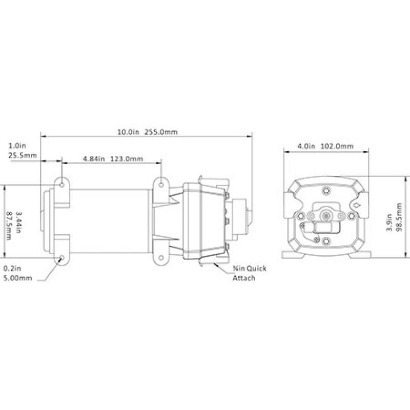 Flopower Maxi pump 17 / m 24v