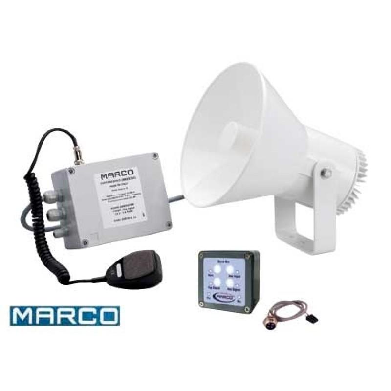 Megafono marino Marco 12v para barcos de 12 a 20 mt