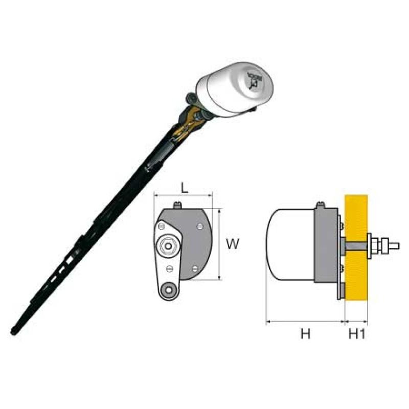 Burnished Steel edge Extraflex wiper blades L330