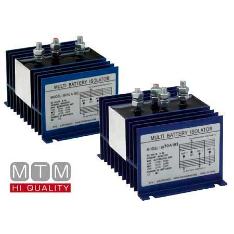 Electronic battery separator 2 Batteries 70amp