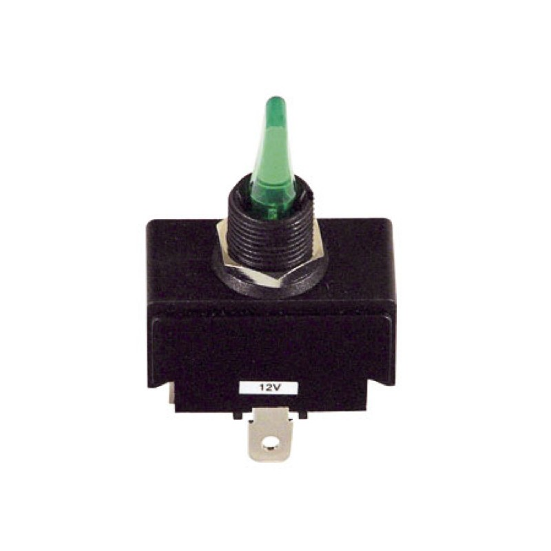 12V toggle switch with plastic lever and LED light 4t 30a On/off/On