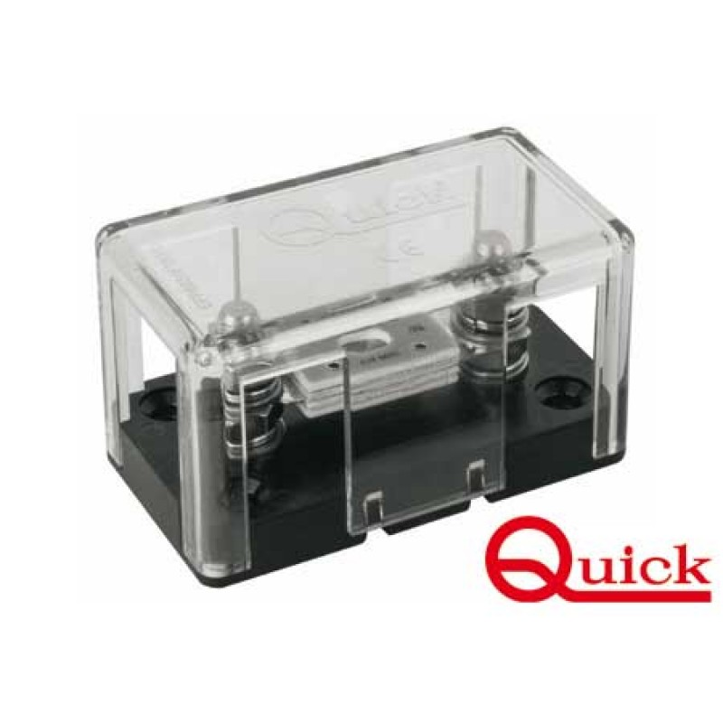 Isolated base ANL fuse holder with protection cage