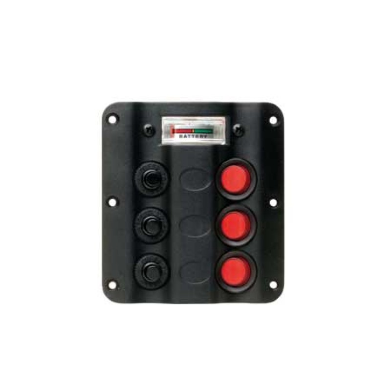 Polyurethane panel with 3 Led waterproof switches & Battery Indicator H110mm