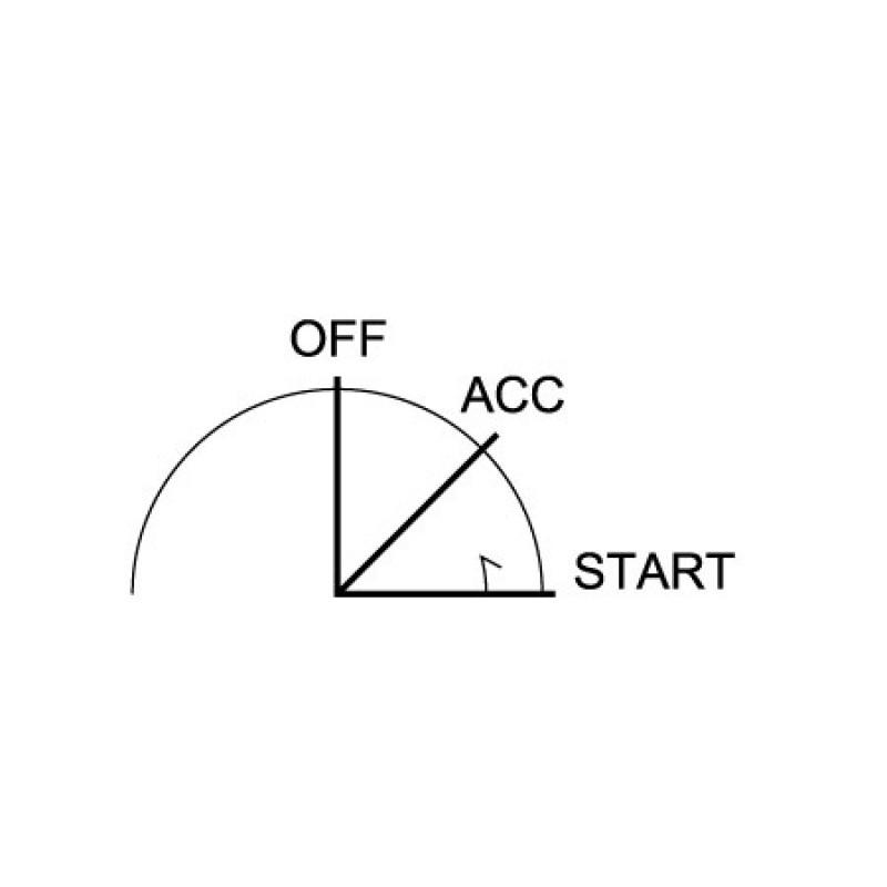 Interruptor de encendido con llave 3 Posiciones 5 terminales