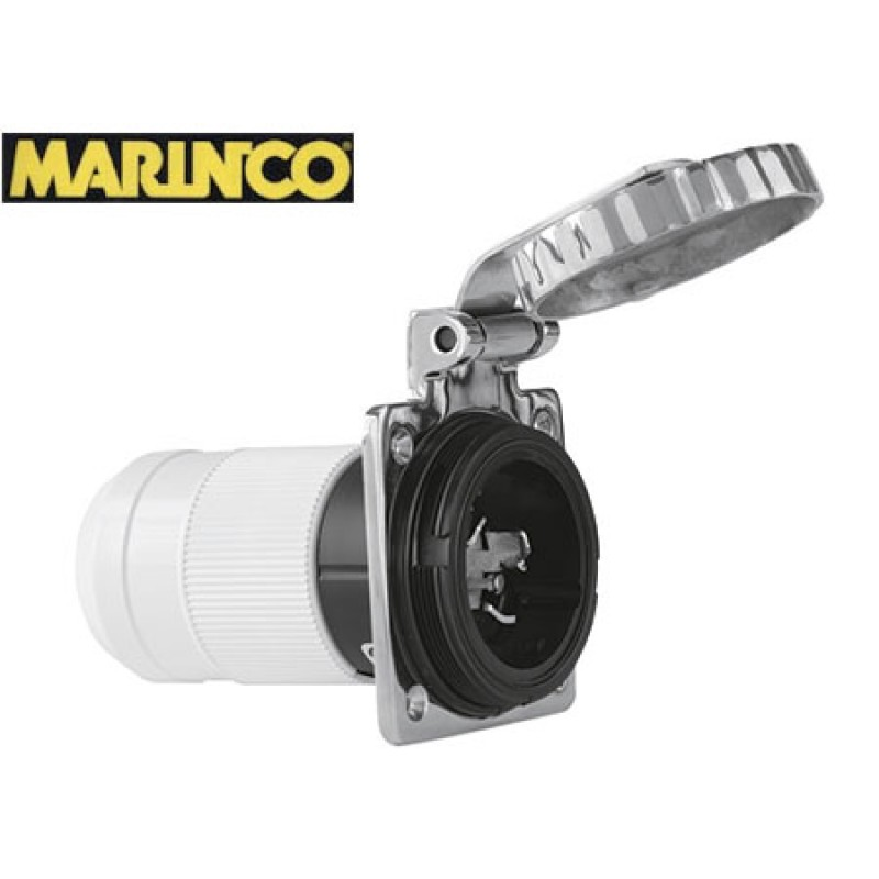 MARINCO 30a Quadra outlet in stainless steel