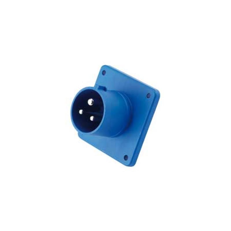 Conector Electrico Pantalan pared CE 16a 230v Ip44