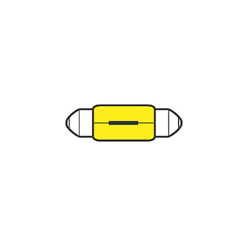 Led Bicolor 12V Chromed case bow navigation light 45 x 100mm