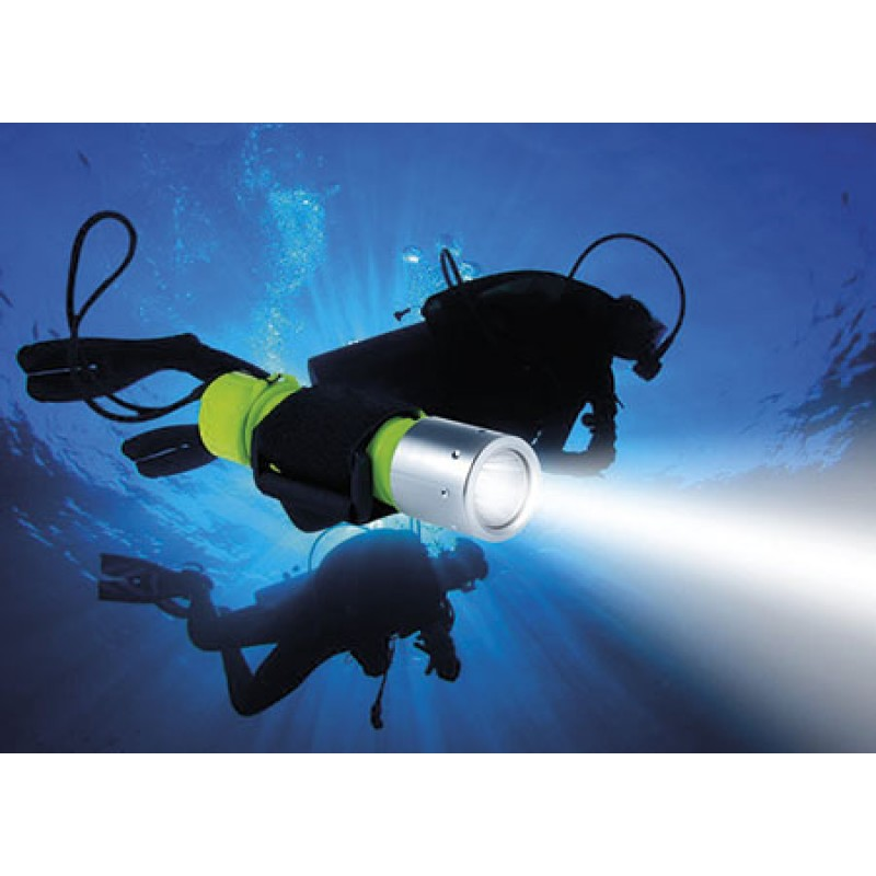 Linterna Led Amarillo para Buceo 10 vatios Ip68