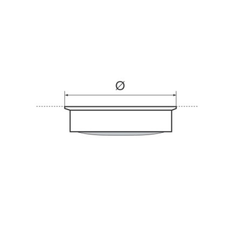 Ceiling Ceiling with Switch D140 Inox