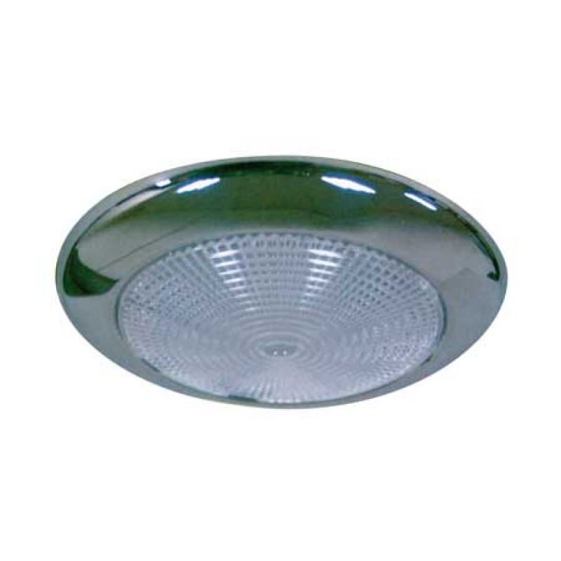 Low profile Stainless Steel body 12V LED dome lights 132mm