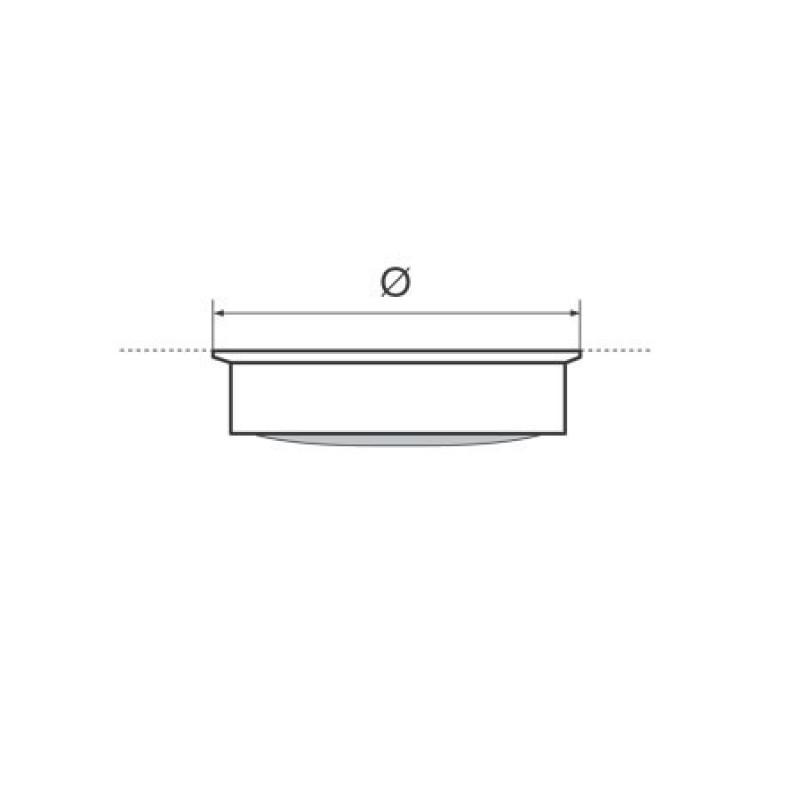 Luces de techo Led de latón pulido 12v 168mm con interruptor