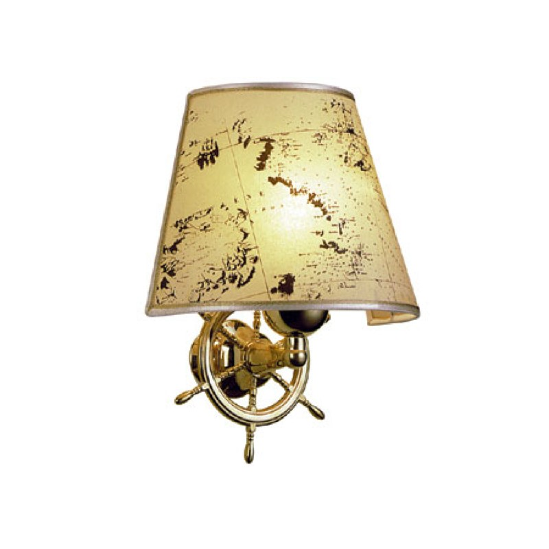 Brass Wall light with wheel and shade 220V