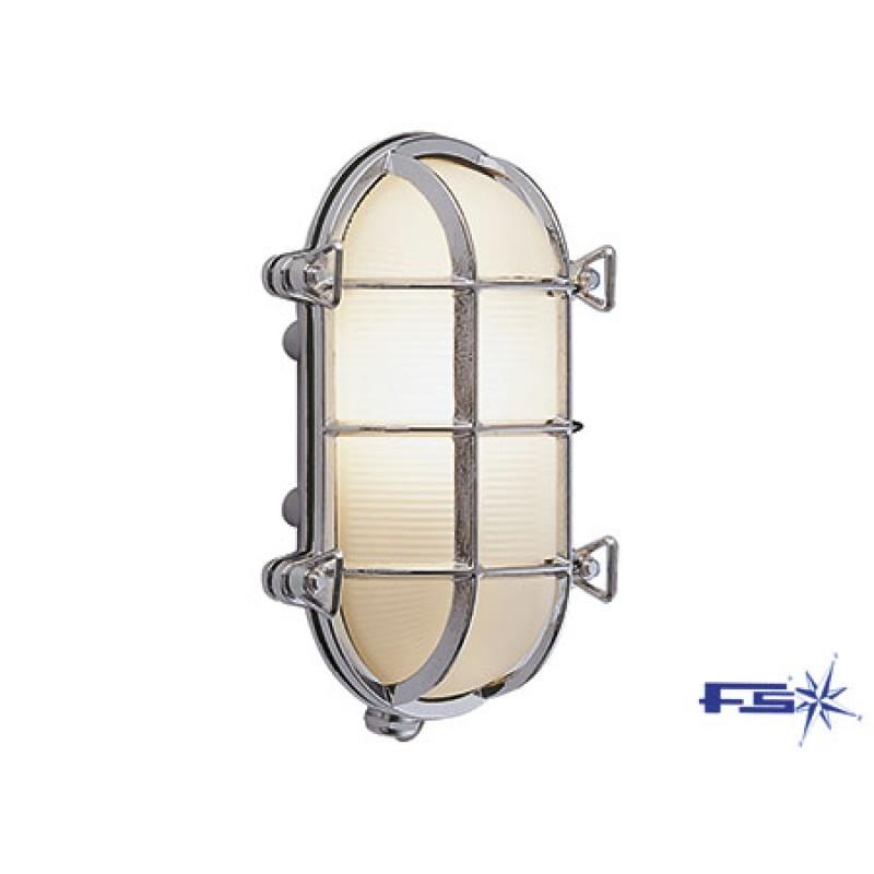 Lámpara de Laton Cromado 235 x 165mm 220v x 60w