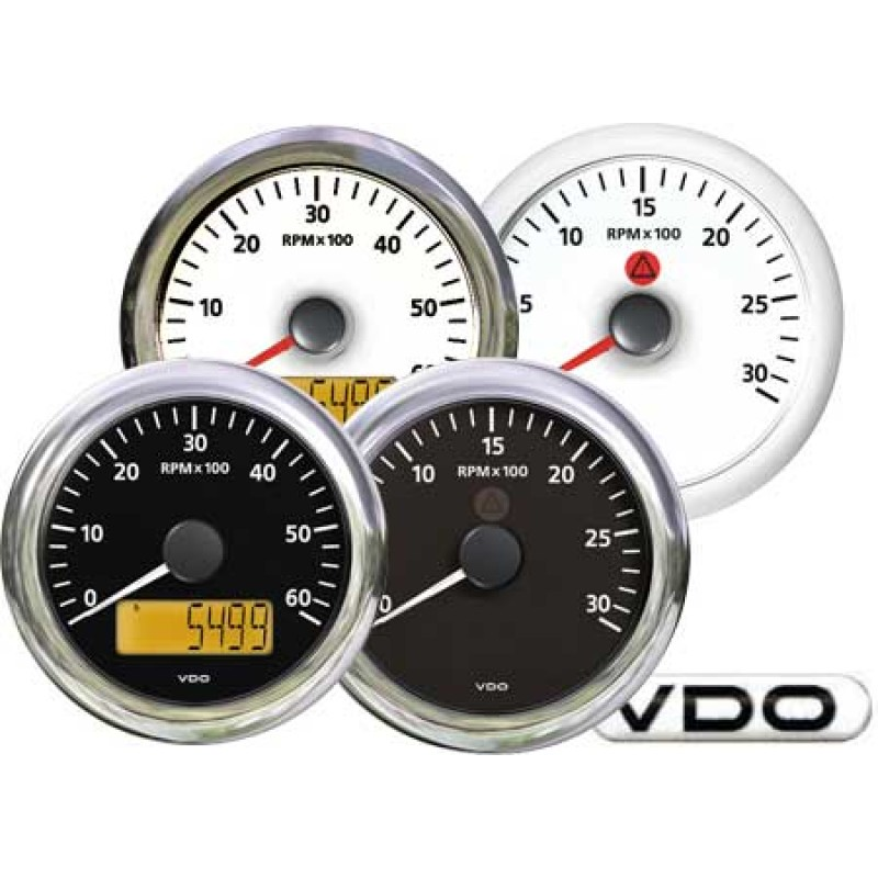 Tachometer VDO White 4000rpm 85mm