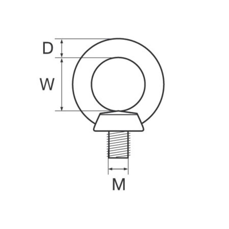 Cabeza del perno M12 M acero inoxidable