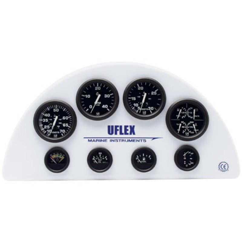 Indicador Nivel Combustible 0-190ohm Uflex Ultra Black 52mm