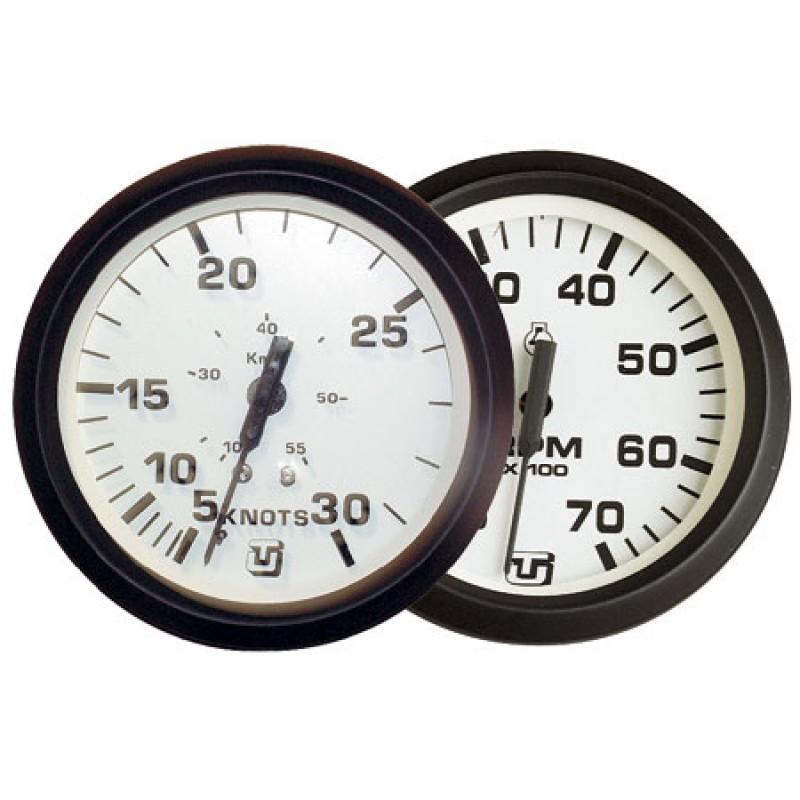 Velocimetro Corredera Gps Uflex Ultra White 12-24v 60 nudos 85mm