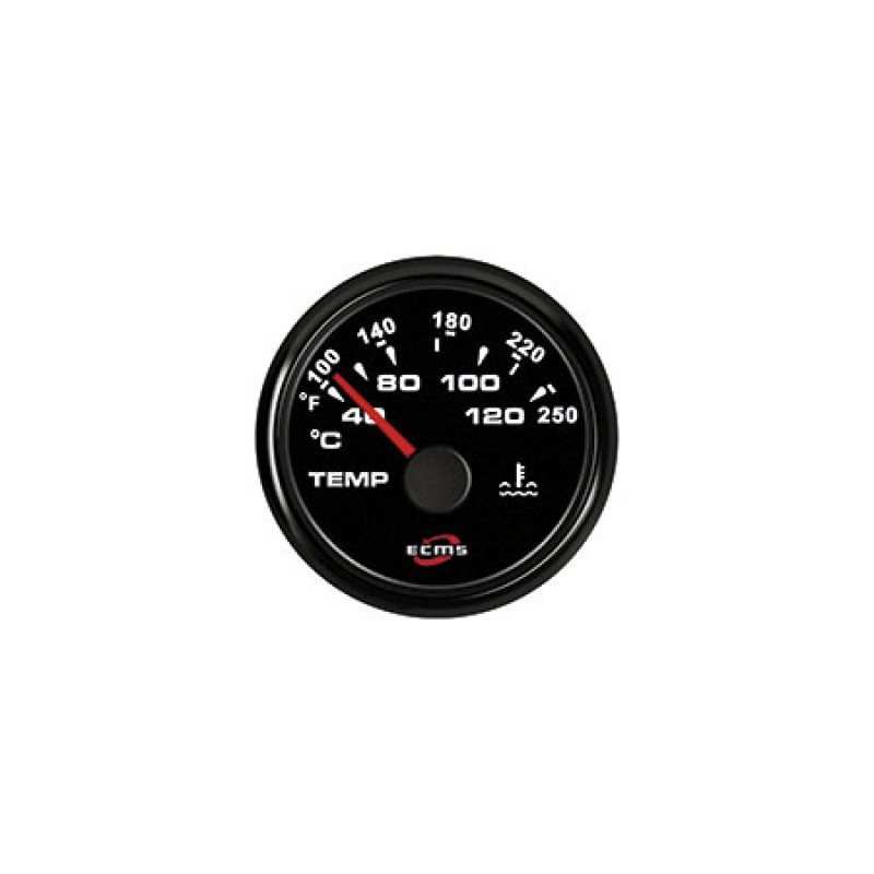 ecms all black gauges ammeter with shunt -150+150a