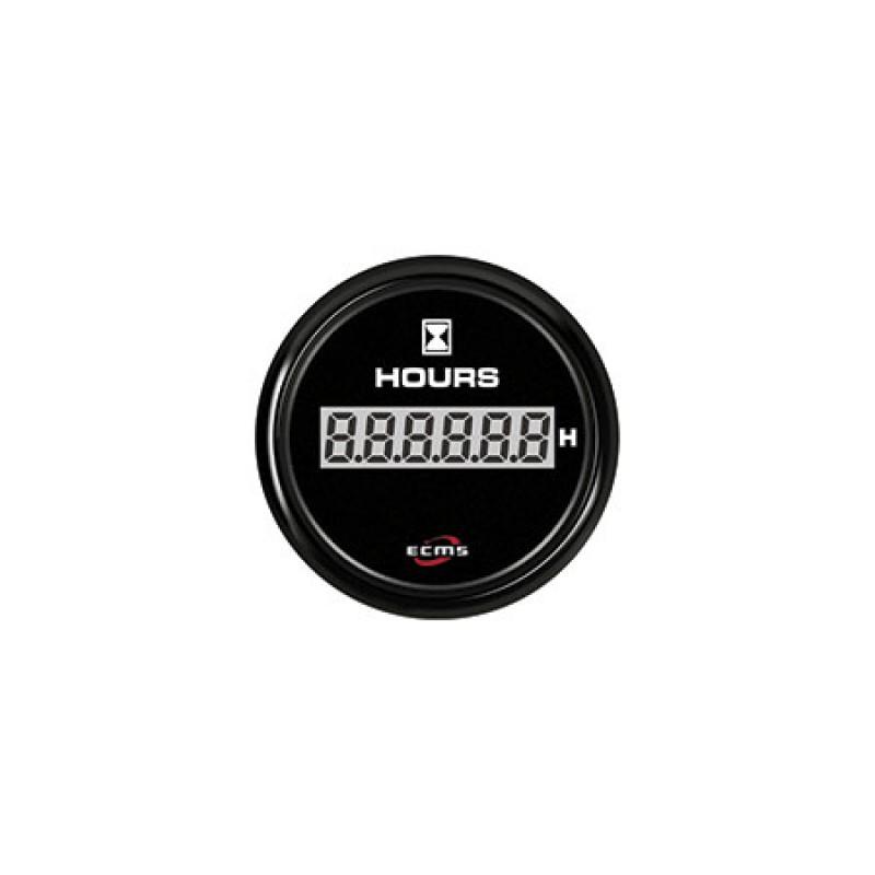 Medidor de nivel de aguas residuales ECMS 12 / 24V negro 52mm