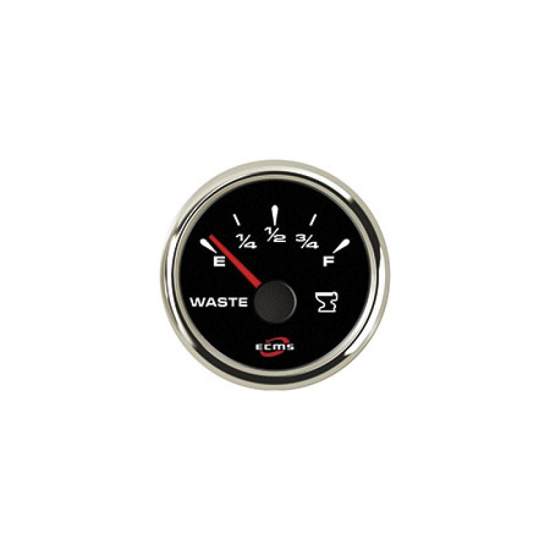 Oil Pressure Gauge 0-5bar ECMS 52mm Black & Chrome 12/24V