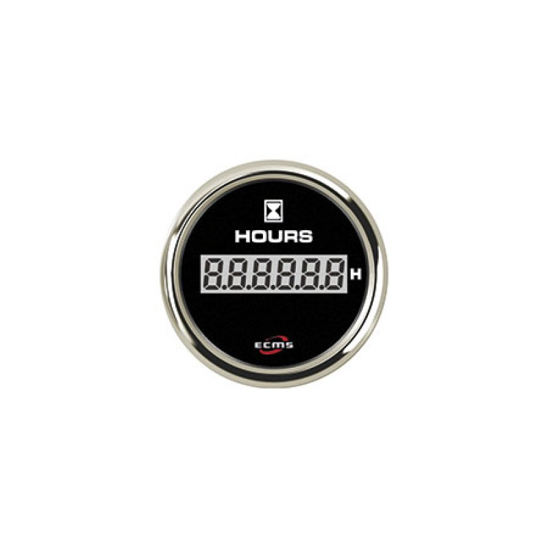 Voltímetro Uflex negro 52mm 8-32v