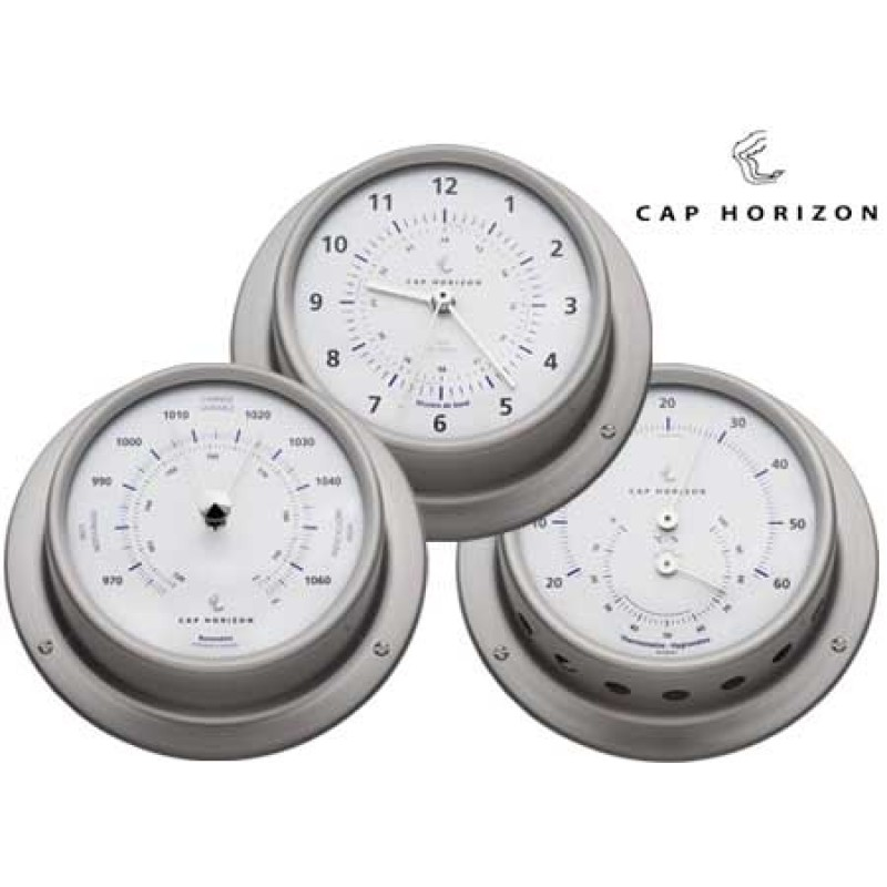 Barómetro acero inoxidable satinado 110mm Cap Horizon (por barigo)