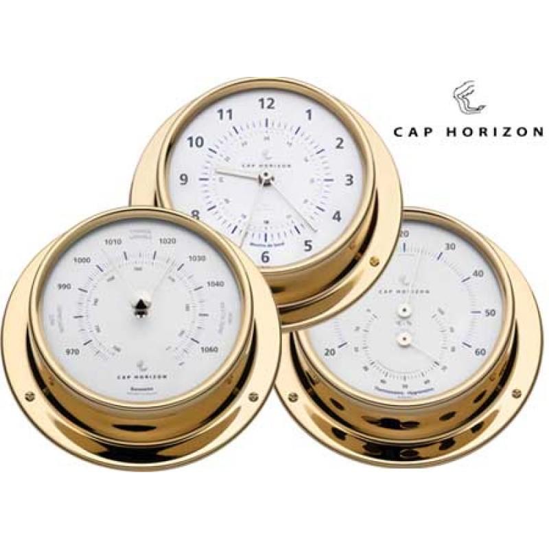 Polished Brass Clock Horizon by Barigo D120