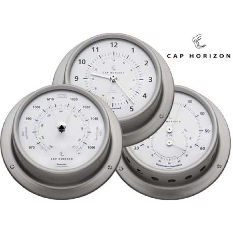 Satin stainless steel barometer 120 mm