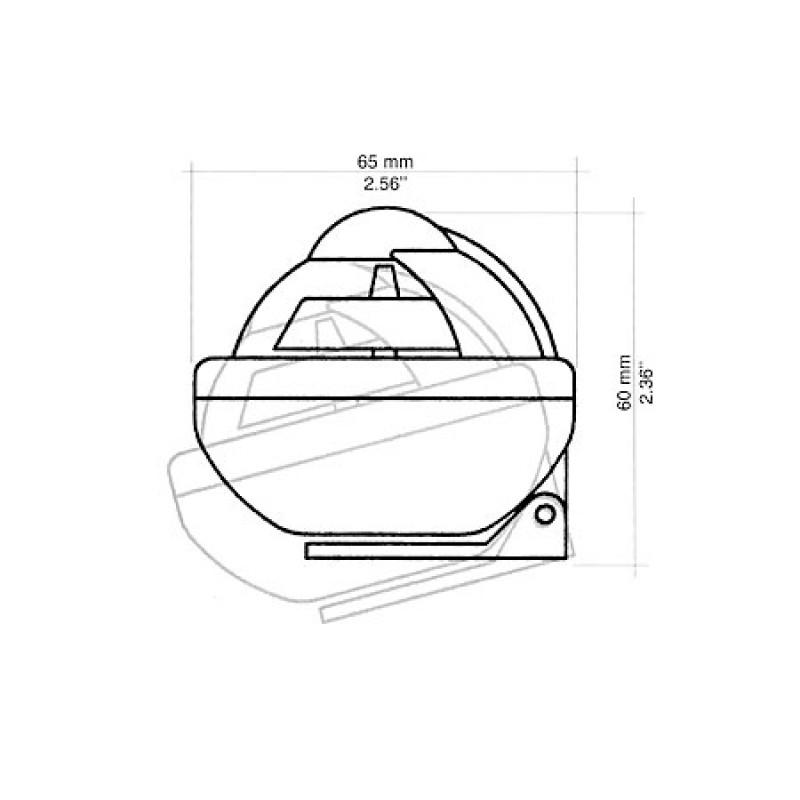 Bracket mount anti-glare screen Comet BC2 compass BC2 - Black