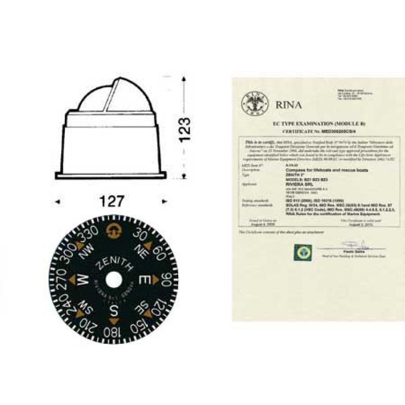 Compas de Navegación Riviera Zenith BZ1 - Standard - Blanco