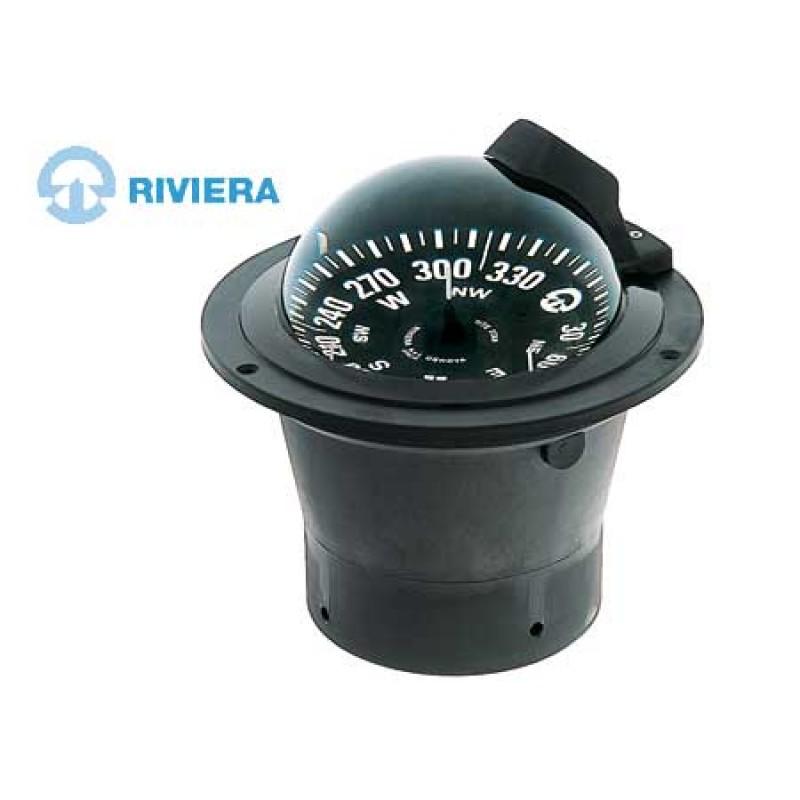 Compas Negro Empotrable Riviera White Star BW1 para alta velocidad