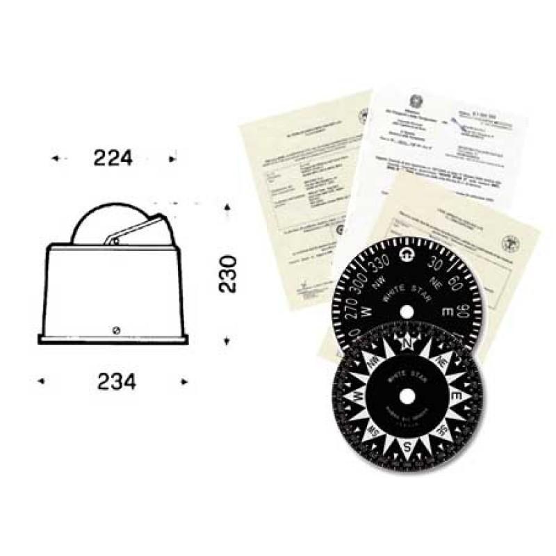 Compas de navegación Riviera White Star B6w4 2gr Rina Approved